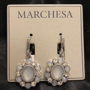Marchesa Flower Drop Earrings NWT